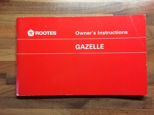 Singer Gazelle Owners Manual/Service record