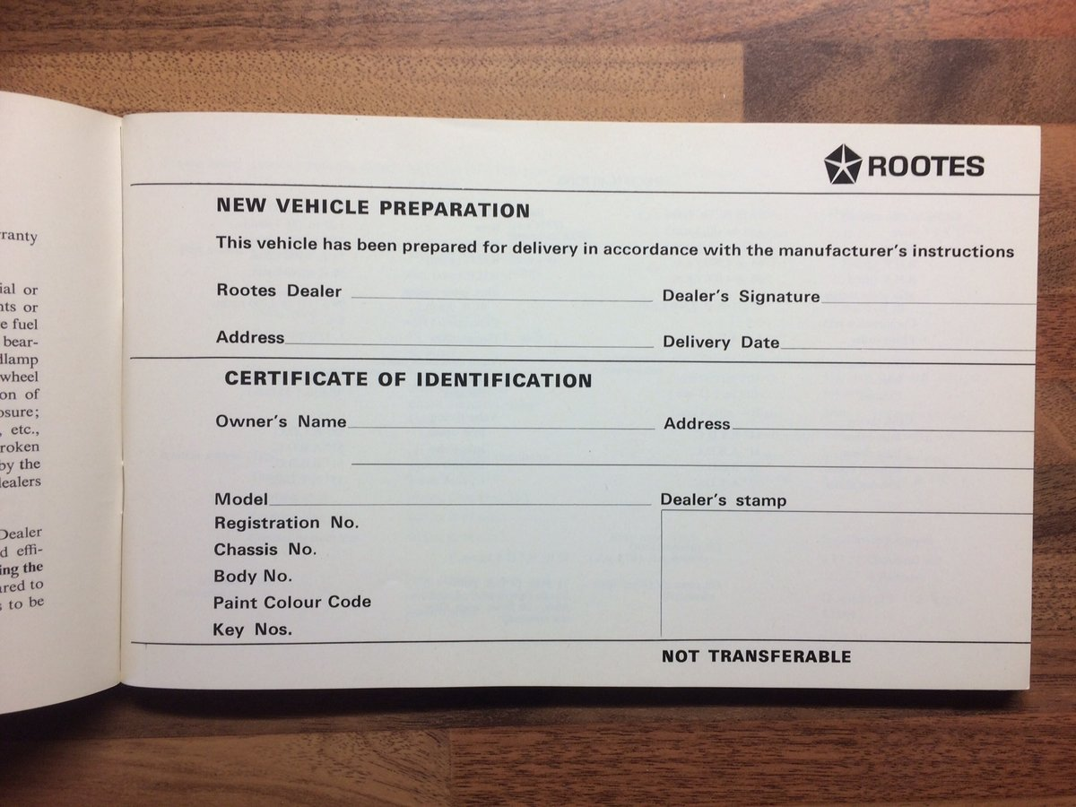 Singer Gazelle Owners Manual/Service record For Sale (picture 2 of 5)