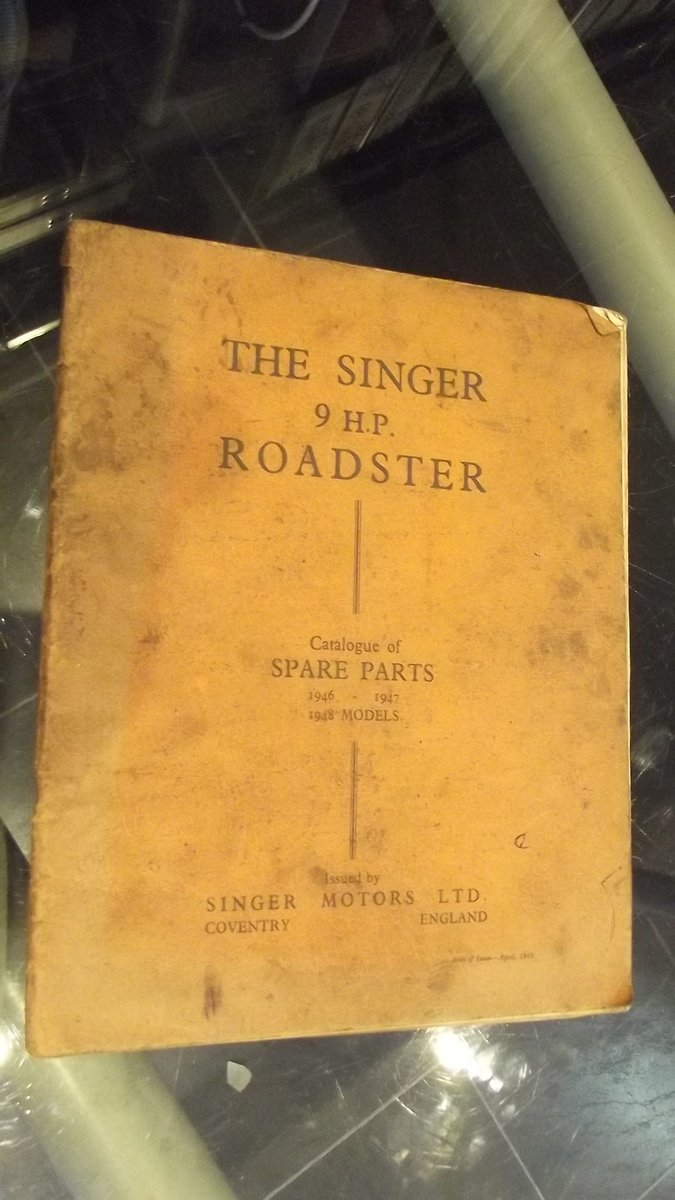 singer nine brochure and parts catalogue 1946-1948 For Sale (picture 3 of 5)