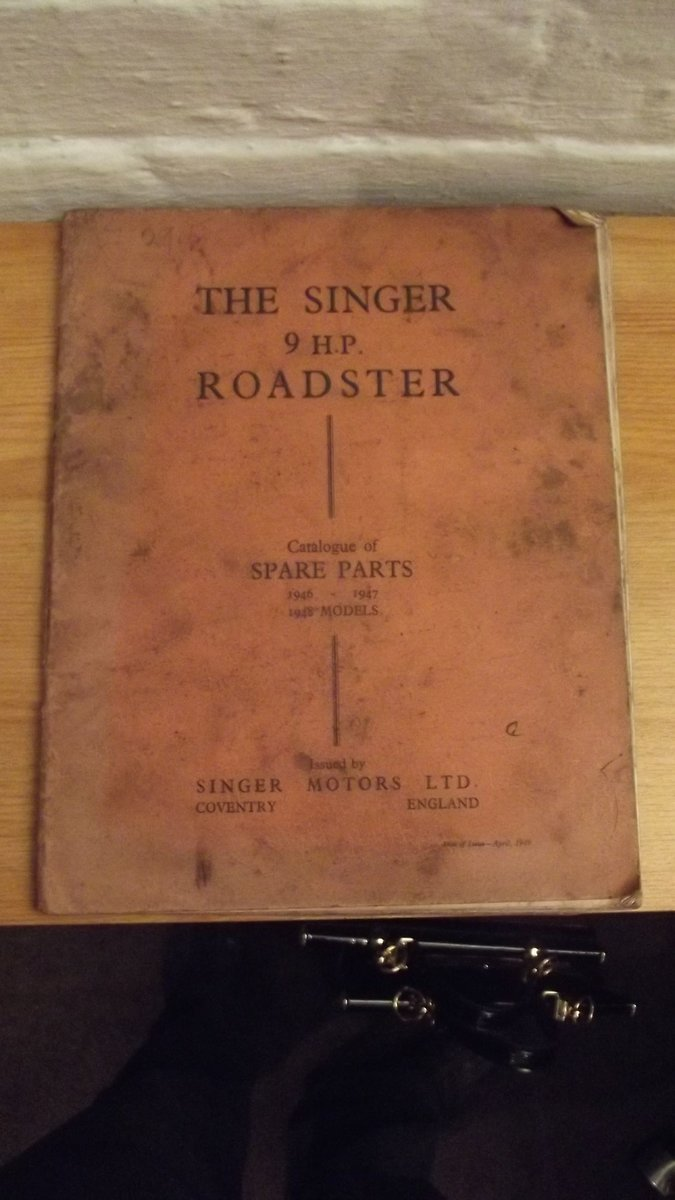 singer nine brochure and parts catalogue 1946-1948 For Sale (picture 4 of 5)