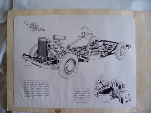 1951 SINGER MOTORS  S.M. 1500 SALES BROCHURE For Sale (picture 3 of 6)