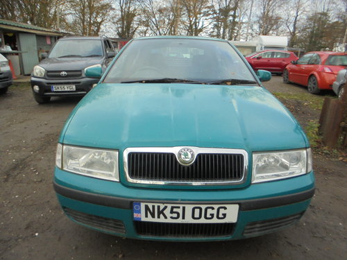 2001 51 PLATE DIESEL AUTOMATIC  1900cc SKODA OCYAVIA SALOON 200K For Sale (picture 4 of 6)