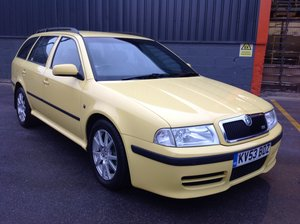 2003 SKODA OCTAVIA VRS 1.8T COMBI ESTATE 1U5 YELLOW LOW MILEAGE  For Sale