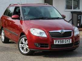 2008 Skoda fabia estate 3  1.4  petrol 5dr fsh For Sale (picture 1 of 6)