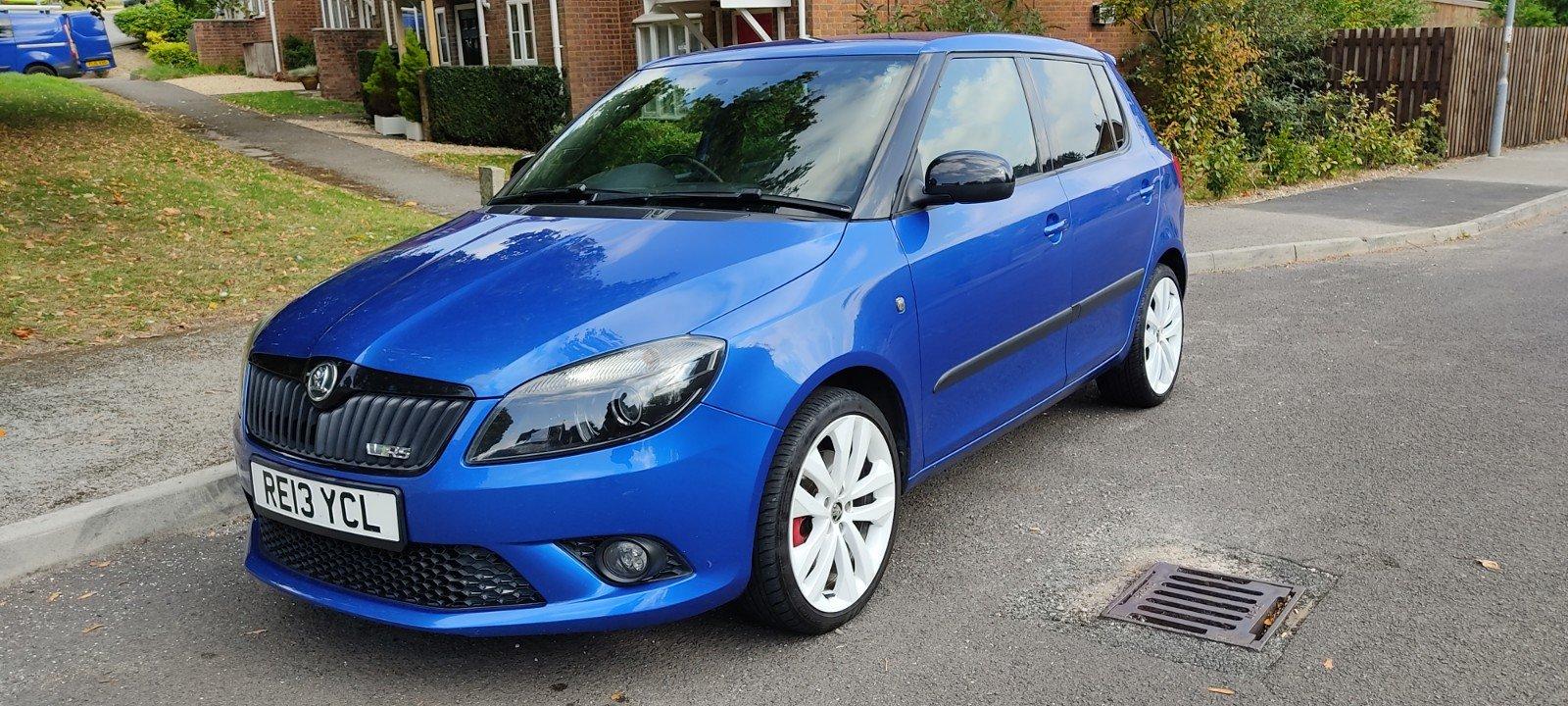 2013 Skoda Fabia VRS Hatch, FSH, 57k miles, Blue For Sale (picture 1 of 6)