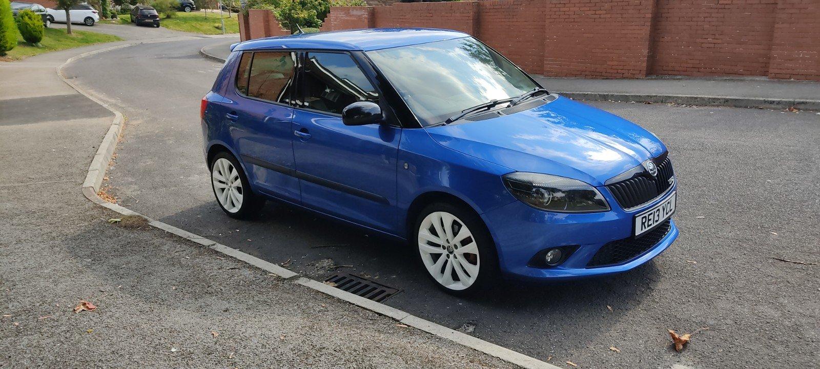 2013 Skoda Fabia VRS Hatch, FSH, 57k miles, Blue For Sale (picture 5 of 6)