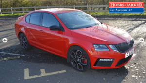 2018 Skoda Octavia VRS 245 - 38,042 Miles for auction 25th