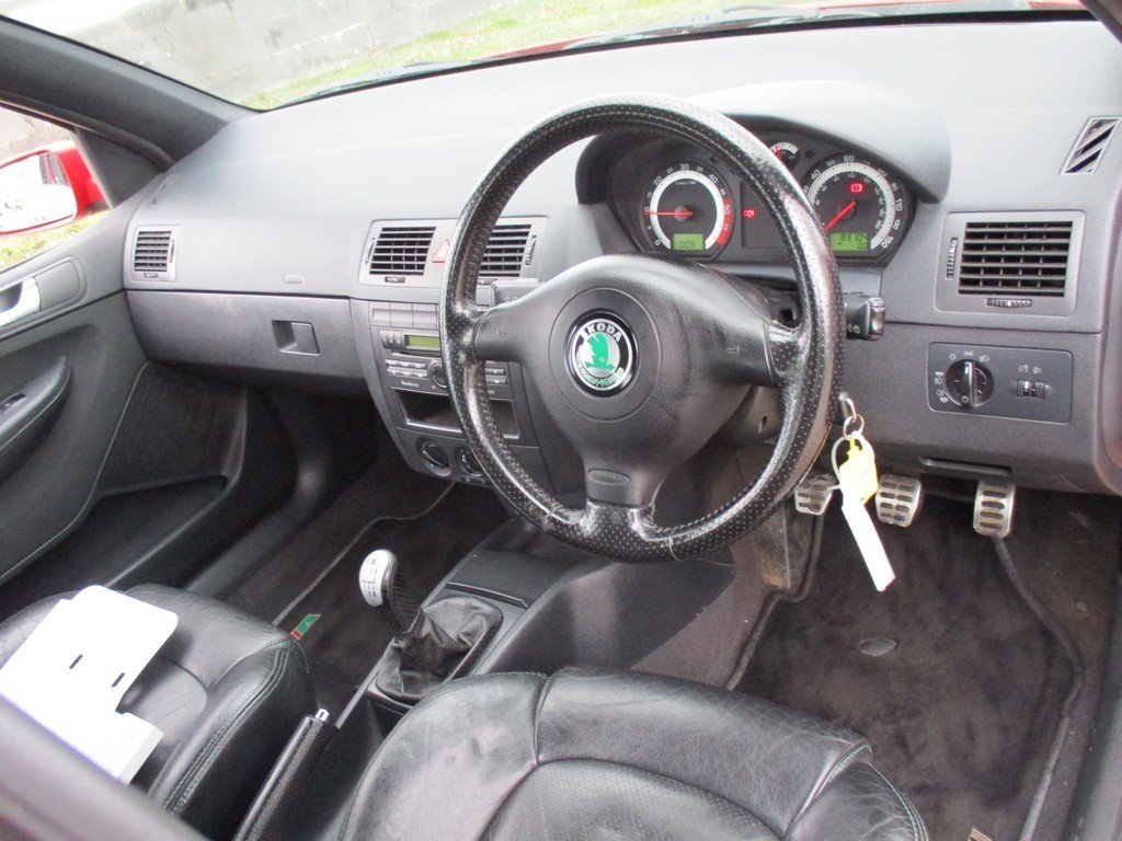 2003 SKODA FABIA 1.9 TDI VRS 83,000 MILES WITH FSH. LEATHER For Sale (picture 7 of 12)