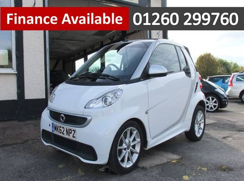 2012 SMART FORTWO CABRIO 1.0 PASSION MHD 2DR AUTOMATIC SOLD (picture 1 of 6)