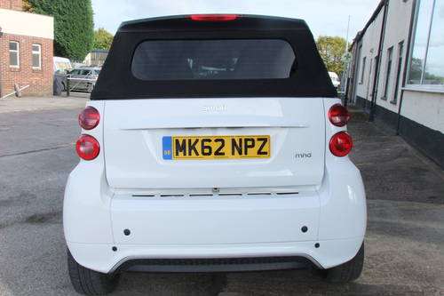 2012 SMART FORTWO CABRIO 1.0 PASSION MHD 2DR AUTOMATIC SOLD (picture 5 of 6)
