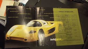 SPYKER & LE BLANC SALES BROCHURES AND PRESS PACK