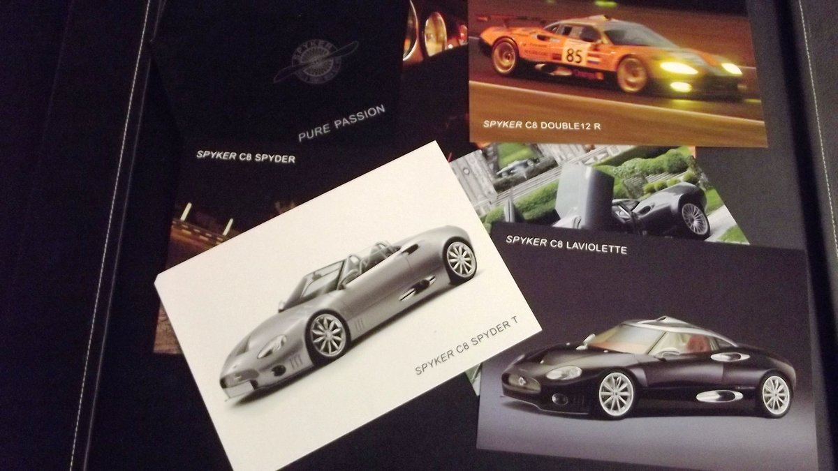 0000 SPYKER & LE BLANC SALES BROCHURES AND PRESS PACK For Sale (picture 3 of 5)