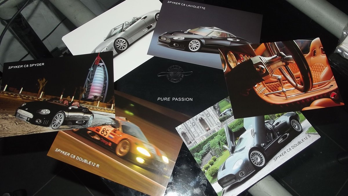 0000 SPYKER & LE BLANC SALES BROCHURES AND PRESS PACK For Sale (picture 4 of 5)