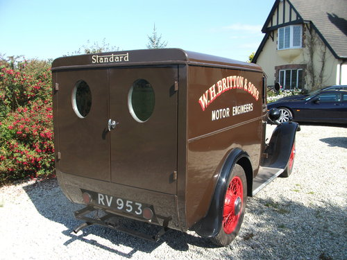 1931 Only remaining Standard Big Nine Van For Sale (picture 2 of 6)
