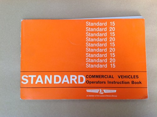 Standard 15 & 20 Handbook  For Sale (picture 1 of 2)