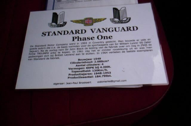 STANDARD VANGUARD PHASE ONE, 1955 For Sale by Auction (picture 5 of 6)