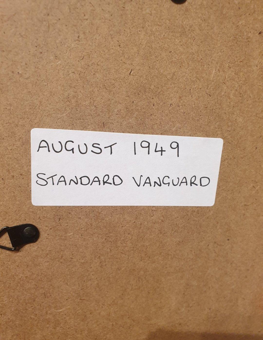 1949 Standard Vanguard Framed Advert Original  For Sale (picture 2 of 2)