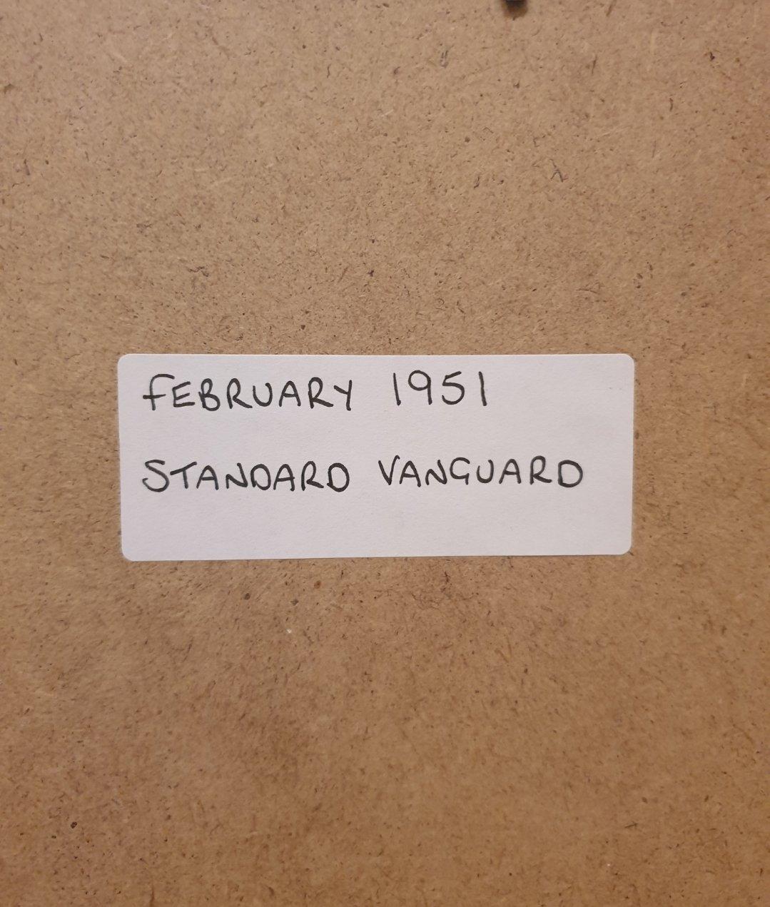 1951 Standard Vanguard Framed Advert Original  For Sale (picture 2 of 2)