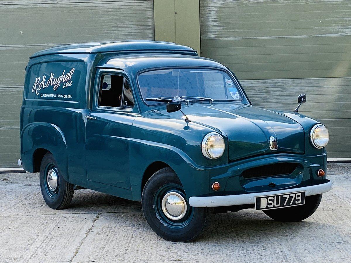 1961 Standard Ten Van 948cc Petrol Manual in Blue For Sale (picture 1 of 6)