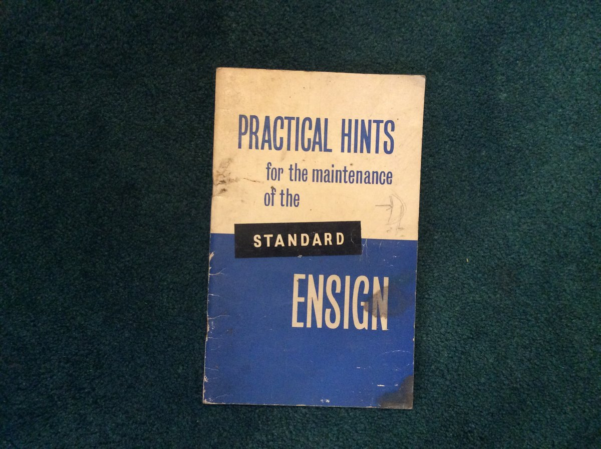 Rare ENSIGN Instruction Book For Sale (picture 1 of 2)