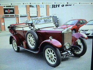 1925 Standard Tourer maroon with uprated 2.0 ford For Sale
