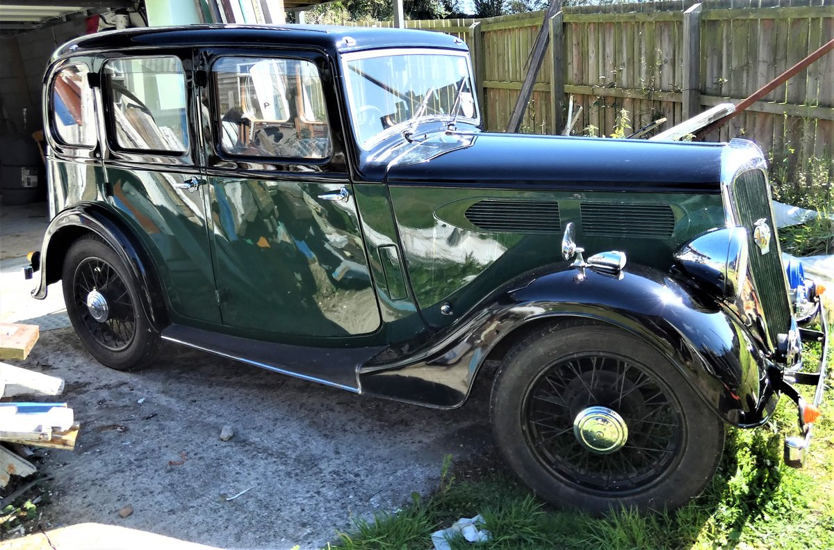 1936 A Lovely Standard 10 Car- Black Over Green For Sale (picture 1 of 6)