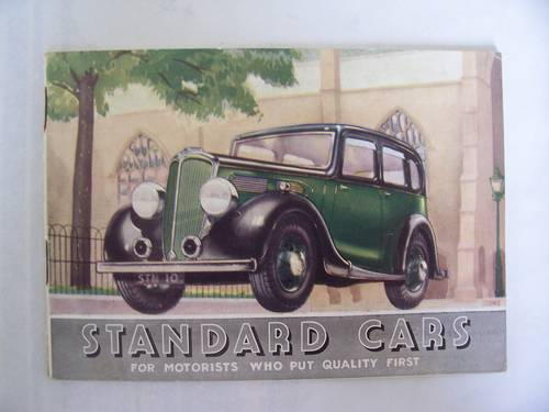 """1936 STANDARD CARS 1935 """"NINE"""" to """"TWENTY"""" SALES BOOKLET For Sale (picture 1 of 6)"""