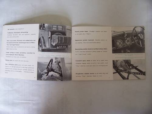 """1936 STANDARD CARS 1935 """"NINE"""" to """"TWENTY"""" SALES BOOKLET For Sale (picture 2 of 6)"""