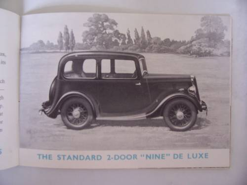 """1936 STANDARD CARS 1935 """"NINE"""" to """"TWENTY"""" SALES BOOKLET For Sale (picture 3 of 6)"""