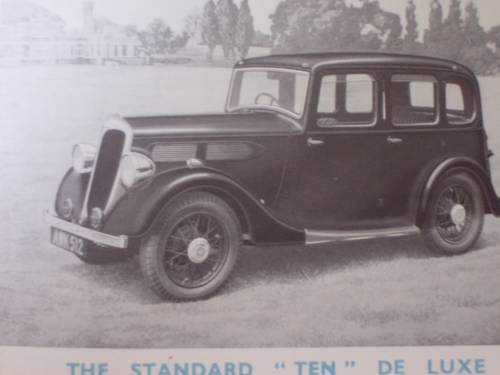 """1936 STANDARD CARS 1935 """"NINE"""" to """"TWENTY"""" SALES BOOKLET For Sale (picture 4 of 6)"""