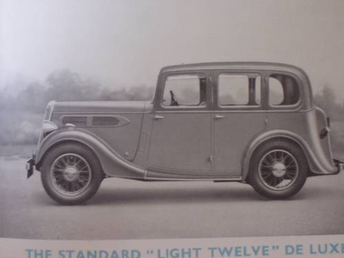 """1936 STANDARD CARS 1935 """"NINE"""" to """"TWENTY"""" SALES BOOKLET For Sale (picture 5 of 6)"""