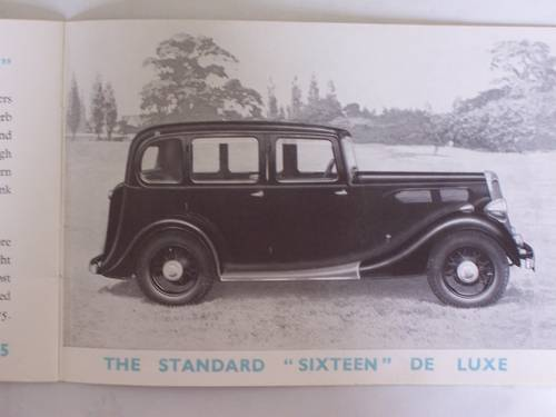 """1936 STANDARD CARS 1935 """"NINE"""" to """"TWENTY"""" SALES BOOKLET For Sale (picture 6 of 6)"""