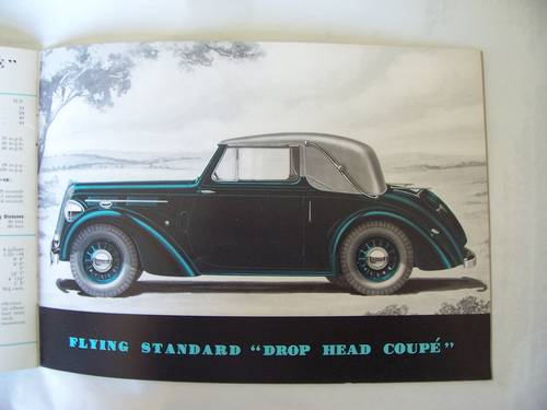 1938 THE FLYING STANDARD COMPLETE RANGE SALES BROCHURE  For Sale (picture 1 of 6)