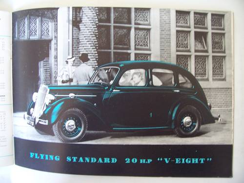 1938 THE FLYING STANDARD COMPLETE RANGE SALES BROCHURE  For Sale (picture 3 of 6)