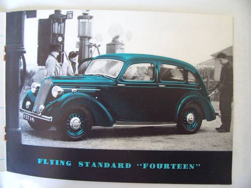 1938 THE FLYING STANDARD COMPLETE RANGE SALES BROCHURE  For Sale (picture 4 of 6)
