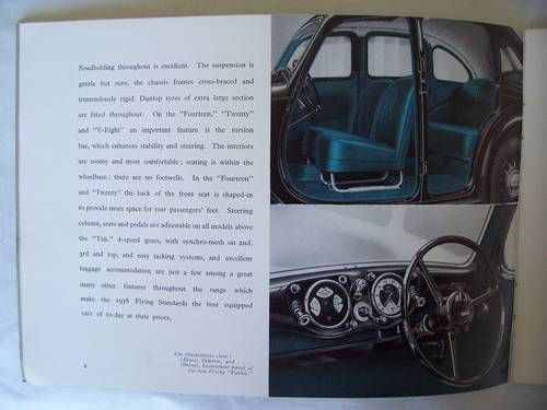 1938 THE FLYING STANDARD COMPLETE RANGE SALES BROCHURE  For Sale (picture 5 of 6)