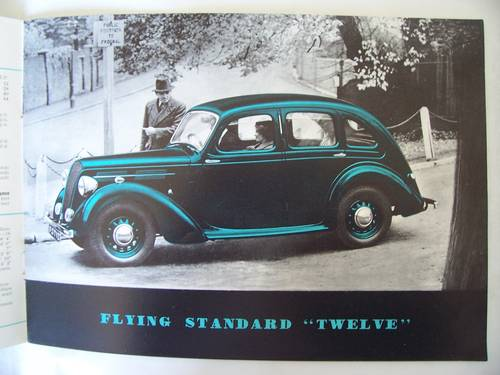 1938 THE FLYING STANDARD COMPLETE RANGE SALES BROCHURE  For Sale (picture 6 of 6)