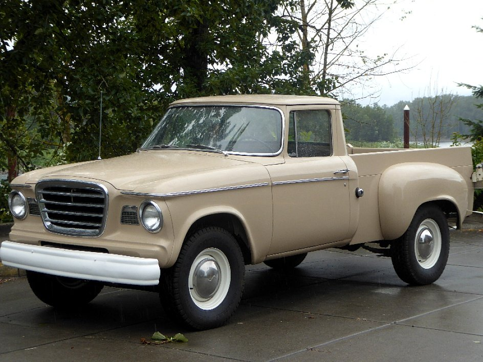 1960 Studebaker Champ Pick-Up Truck = V-8 Manual Tan $19.5k For Sale (picture 1 of 6)