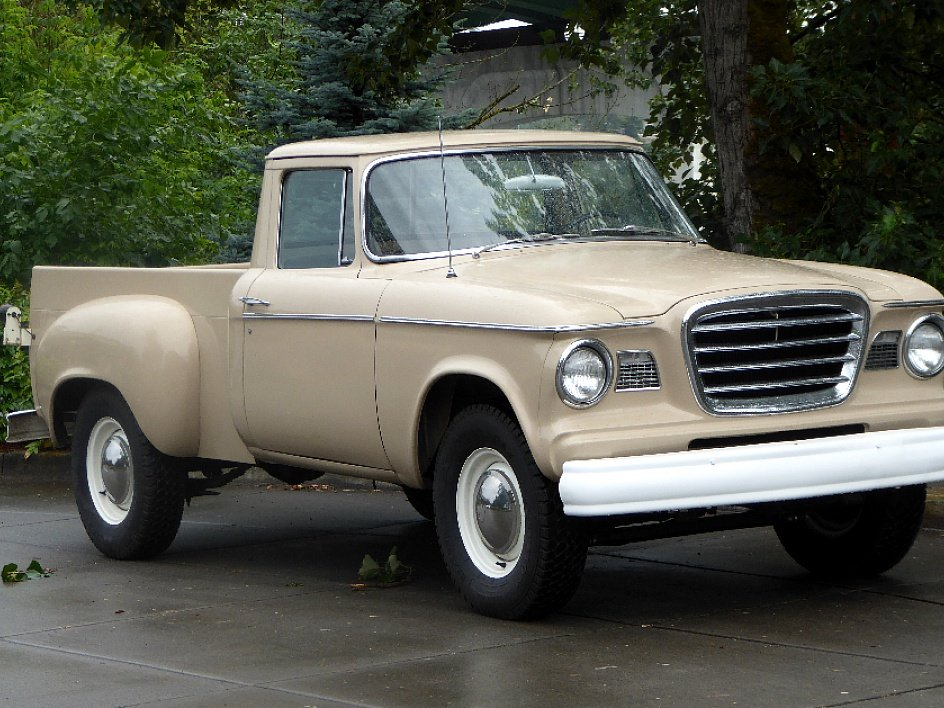 1960 Studebaker Champ Pick-Up Truck = V-8 Manual Tan $19.5k For Sale (picture 2 of 6)