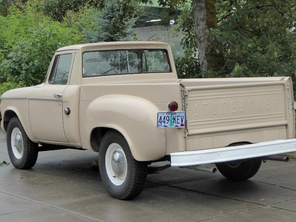 1960 Studebaker Champ Pick-Up Truck = V-8 Manual Tan $19.5k For Sale (picture 3 of 6)