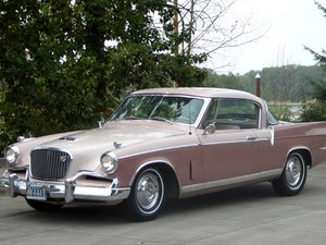 1956 Studebaker Golden Hawk 2D HardTop 289 Auto Rose(~)Ivory $22  For Sale