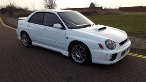 SOLD SUBARU IMPREZA JDM STI BUG EYE – 2001 IN WHITE 6 SPEED  For Sale