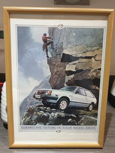Subaru 4X4 Hatch Advert Original