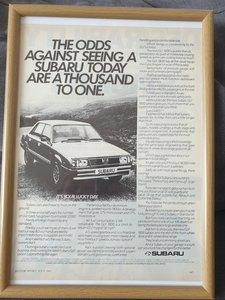 1981 Original Subaru GLF advert