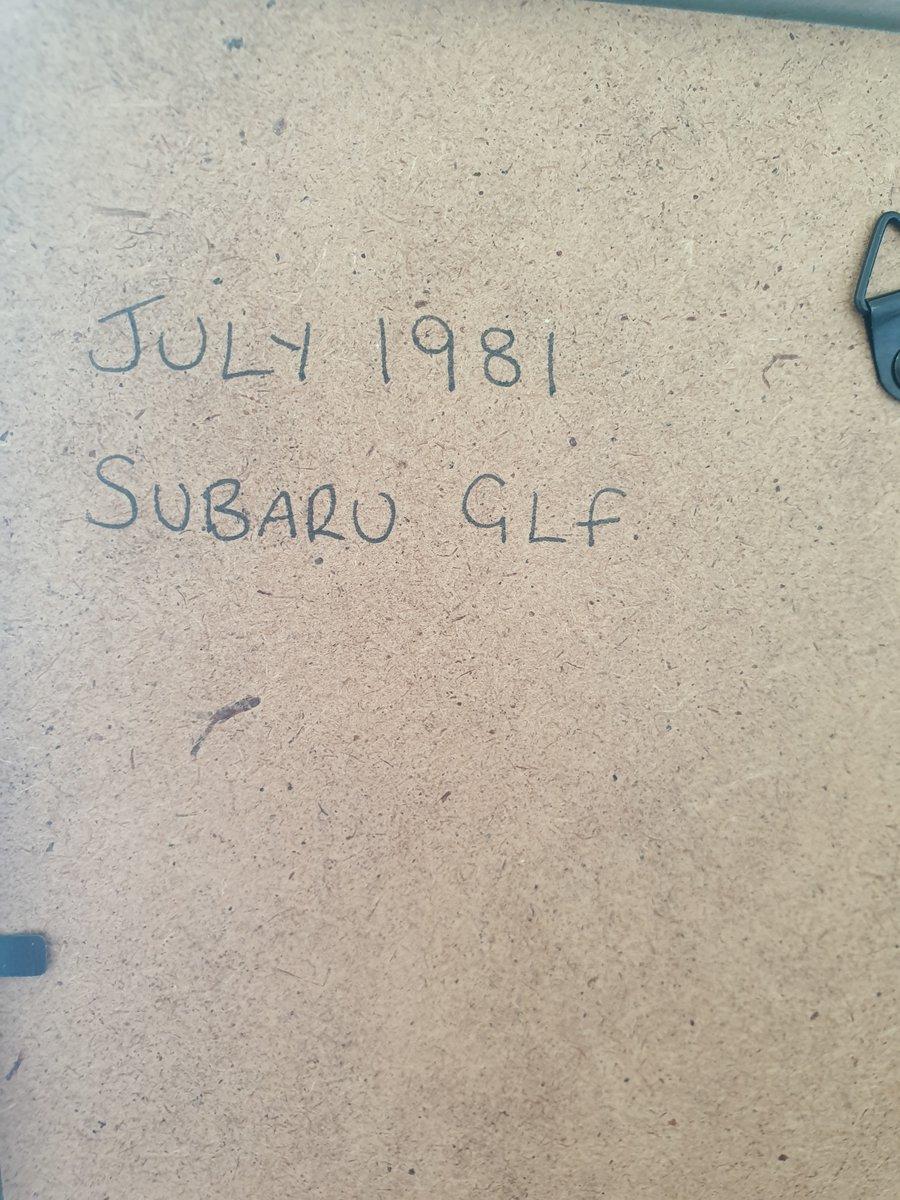 1981 Original Subaru GLF advert For Sale (picture 2 of 2)