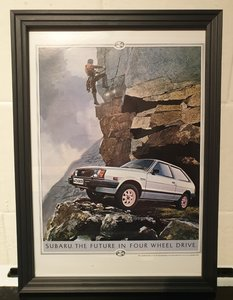 1983 Subaru 4X4 GL Advert Original