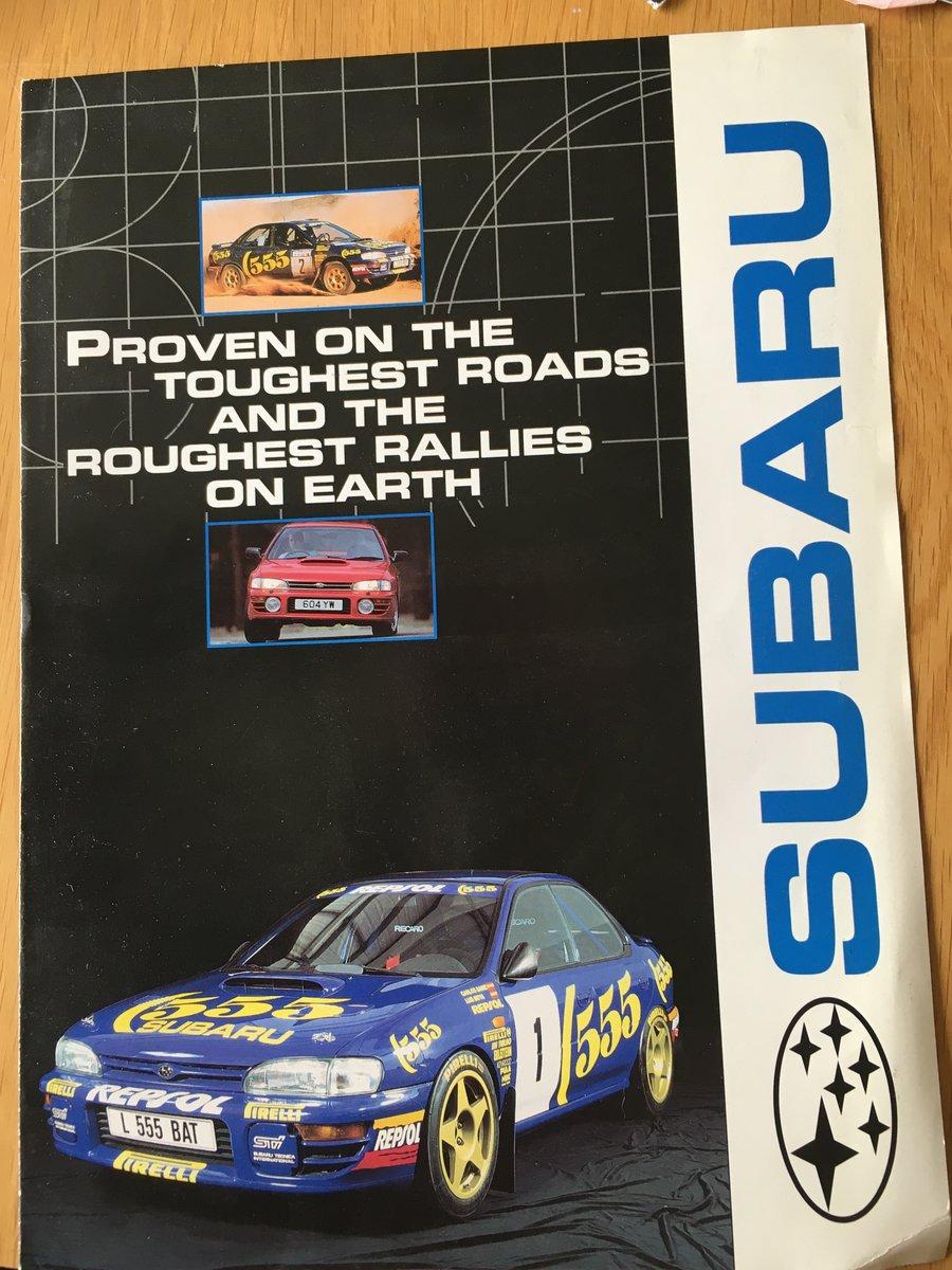 2000 Subaru Impreza turbo brochure SOLD (picture 1 of 2)