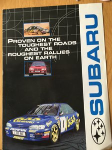 2000 Subaru Impreza turbo brochure SOLD