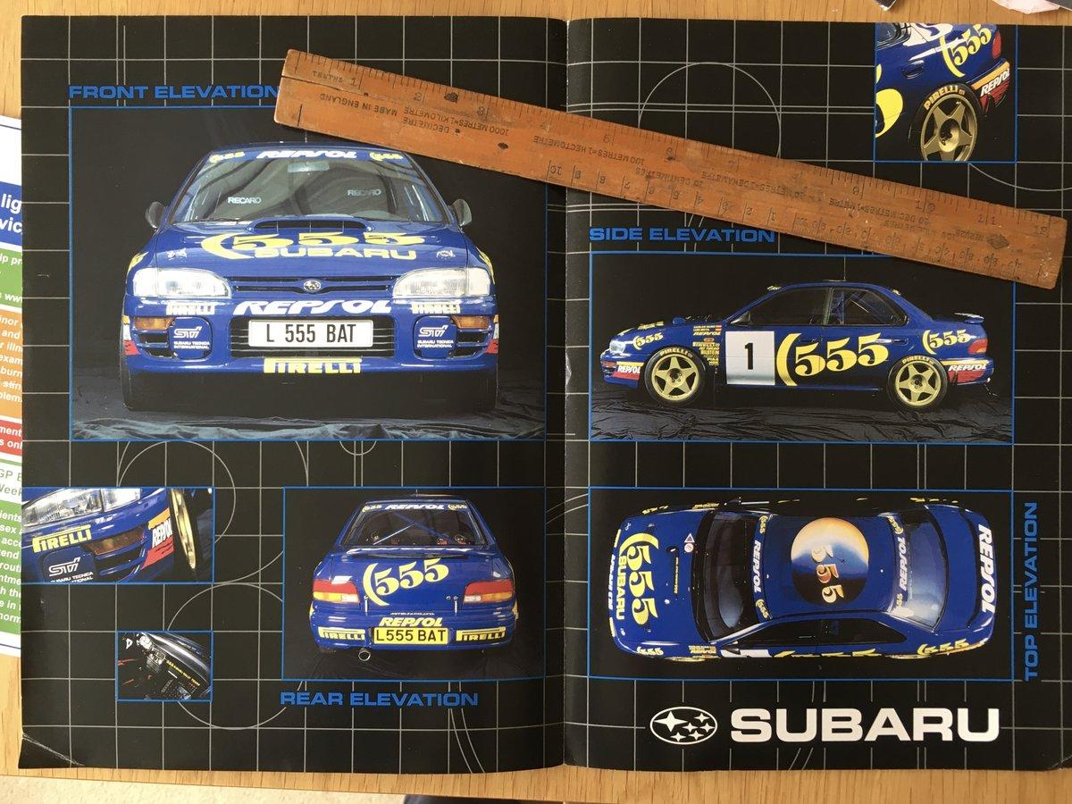 2000 Subaru Impreza turbo brochure SOLD (picture 2 of 2)