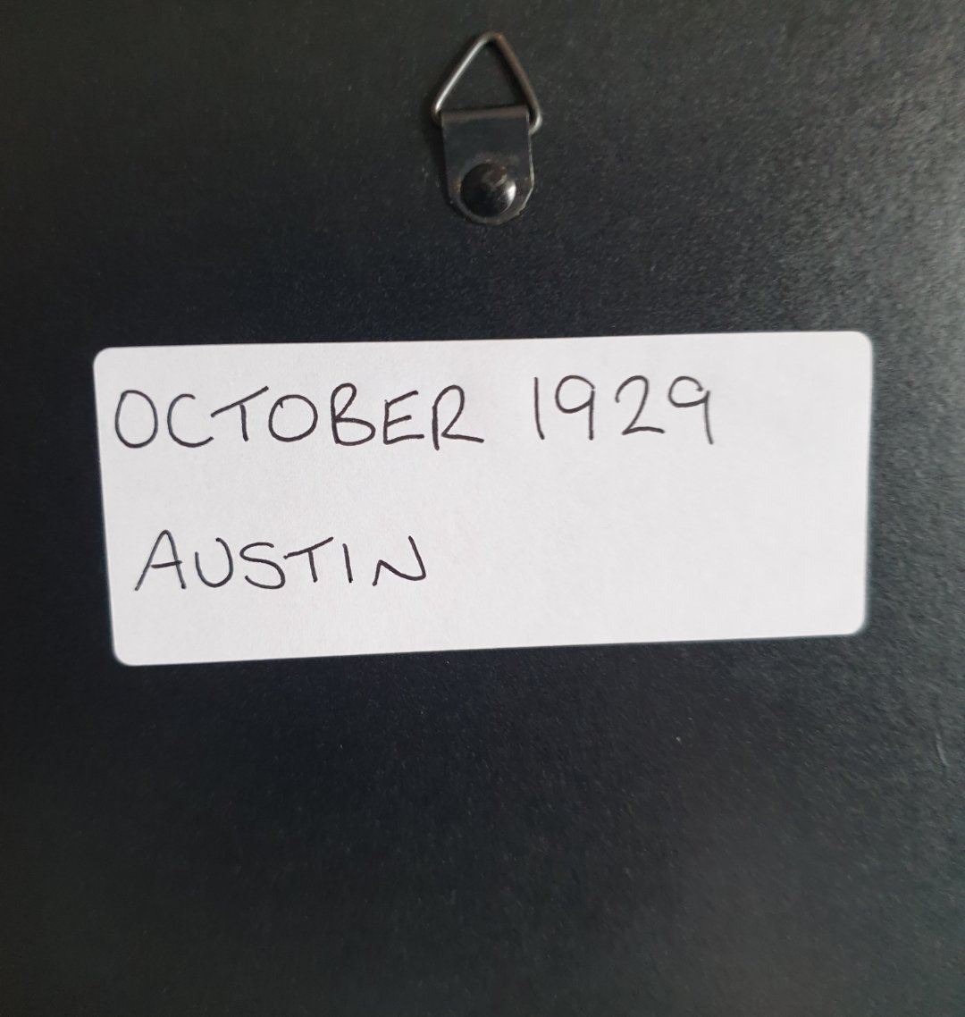 1983 Original 1929 Austin Framed Advert  For Sale (picture 2 of 3)